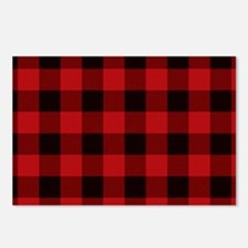 Red Plaid Postcards (Package of 8)