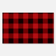 Red Plaid Decal