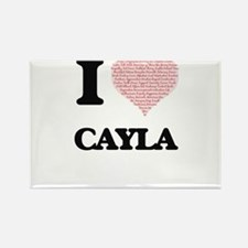 I love Cayla (heart made from words) desig Magnets