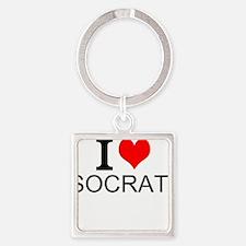 I Love Socrates Keychains