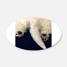Funny Westies Oval Car Magnet