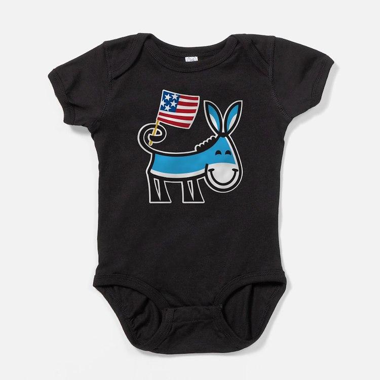 Cute Democrat donkey Baby Bodysuit