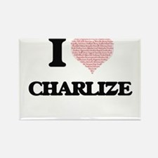 I love Charlize (heart made from words) de Magnets