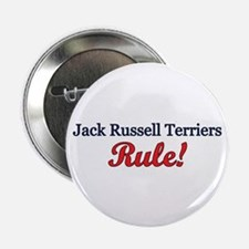 """Jack Russells Rule!"" 2.25"" Button (10 pack)"