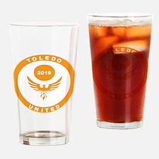 Tufc Logo Orange Drinking Glass
