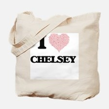 I love Chelsey (heart made from words) de Tote Bag