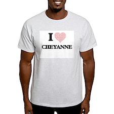 I love Cheyanne (heart made from words) de T-Shirt