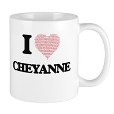 I love Cheyanne (heart made from words) desig Mugs
