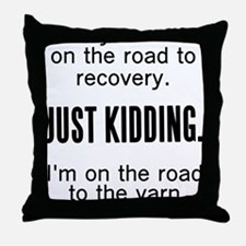 Cute Yarnaholic Throw Pillow
