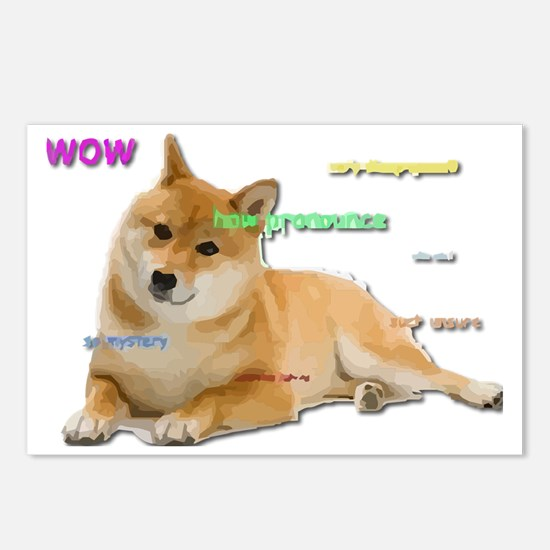 Such Wow Doge Postcards (Package of 8)