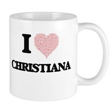 I love Christiana (heart made from words) des Mugs