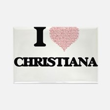 I love Christiana (heart made from words) Magnets