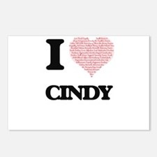 I love Cindy (heart made Postcards (Package of 8)