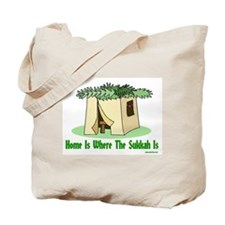 Home Is Where The Sukkah Is Tote Bag