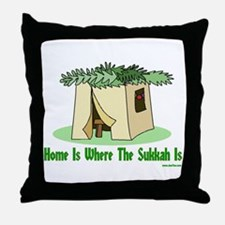 Home Is Where The Sukkah Is Throw Pillow