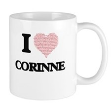 I love Corinne (heart made from words) design Mugs