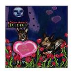 Australian Cattle Dog V-day Tile Coaster