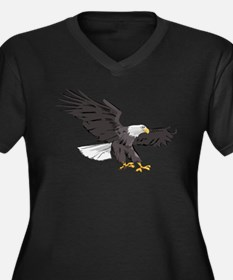 American Bald Eagle Women's Plus Size V-Neck Dark