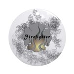 Firefighter Tattoo Ornament (Round)