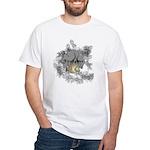 Firefighter Tattoo White T-Shirt
