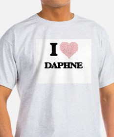 I love Daphne (heart made from words) desi T-Shirt