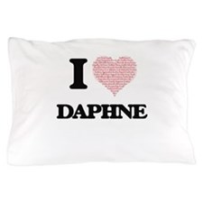 I love Daphne (heart made from words) Pillow Case