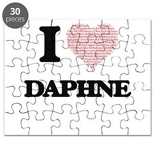 I love Daphne (heart made from words) desig Puzzle