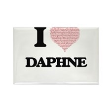 I love Daphne (heart made from words) desi Magnets