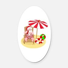 Cute Funny christmas Oval Car Magnet