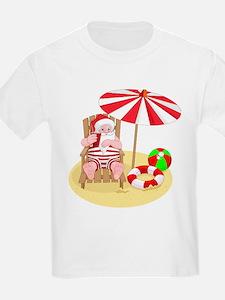 beach santa claus T-Shirt