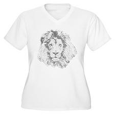 Text Lion Plus Size T-Shirt