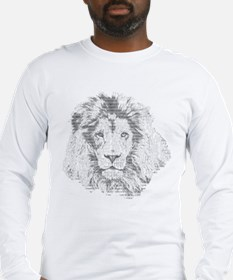 Text Lion Long Sleeve T-Shirt