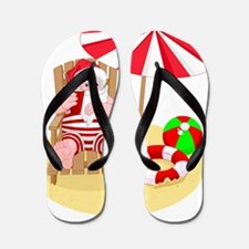 beach santa claus Flip Flops