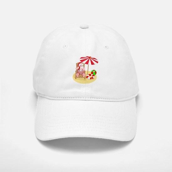 beach santa claus Baseball Baseball Cap