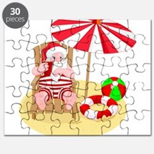 beach santa claus Puzzle
