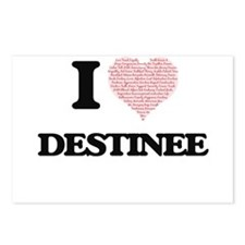 I love Destinee (heart ma Postcards (Package of 8)