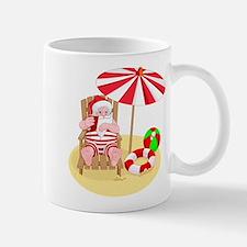 beach santa claus Mugs