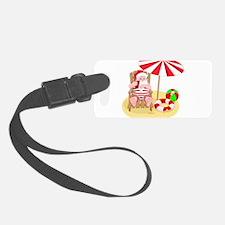 beach santa claus Luggage Tag