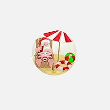 beach santa claus Mini Button (10 pack)