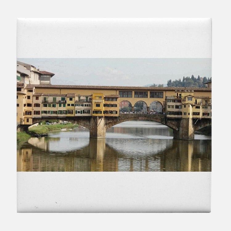 Florence Italy Ponte Vecchio Tile Coaster