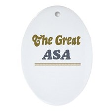 Asa Oval Ornament