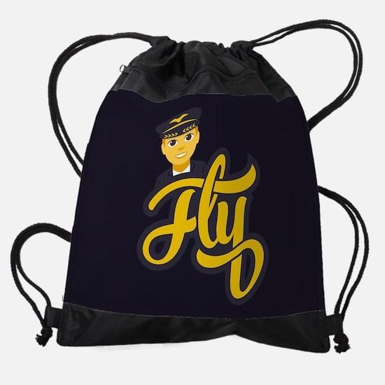 Emoji Pilot Fly Drawstring Bag