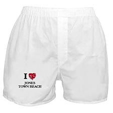 I love Jones Town Beach Massachusetts Boxer Shorts