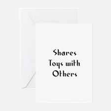Shares Toys with Others Greeting Cards (Pk of 10)