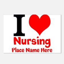 I Love Nursing Postcards (Package of 8)