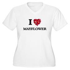 I love Mayflower Massachusetts Plus Size T-Shirt
