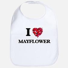 I love Mayflower Massachusetts Bib