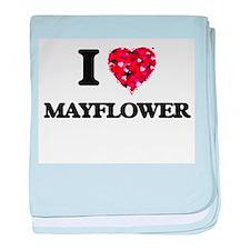 I love Mayflower Massachusetts baby blanket