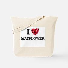I love Mayflower Massachusetts Tote Bag