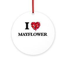 I love Mayflower Massachusetts Round Ornament